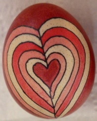 Egg with heart